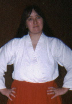 Me dressed as a Japanese shrine maiden
