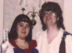 Me and Chris as SailorMars and her Scottish souvenir, respectively